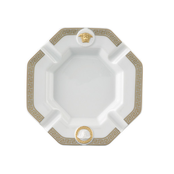 Ashtray, Porcelain, 5 1/2 inch | Versace Gorgona