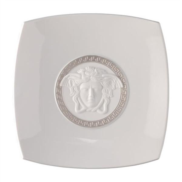 Candy Dish, Porcelain, 8 1/2 inch | Versace Medusa Silver