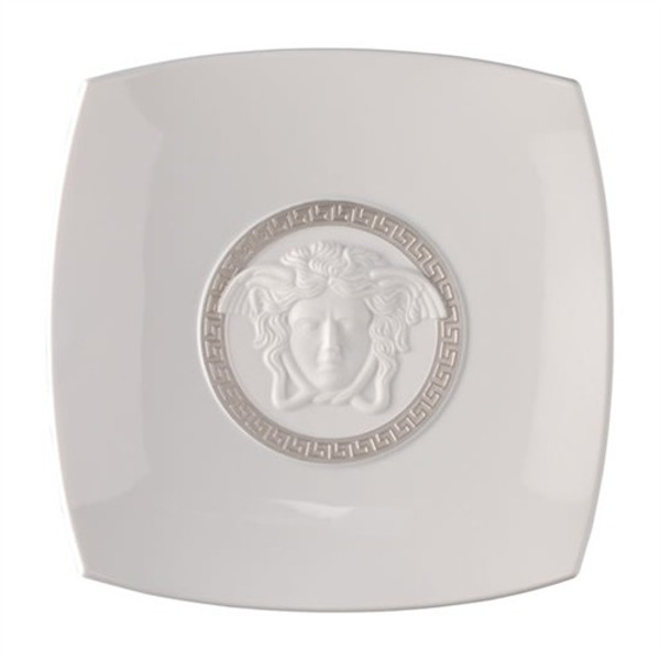 Candy Dish, Porcelain, 8 1/2 inch | Versace Medusa Silver