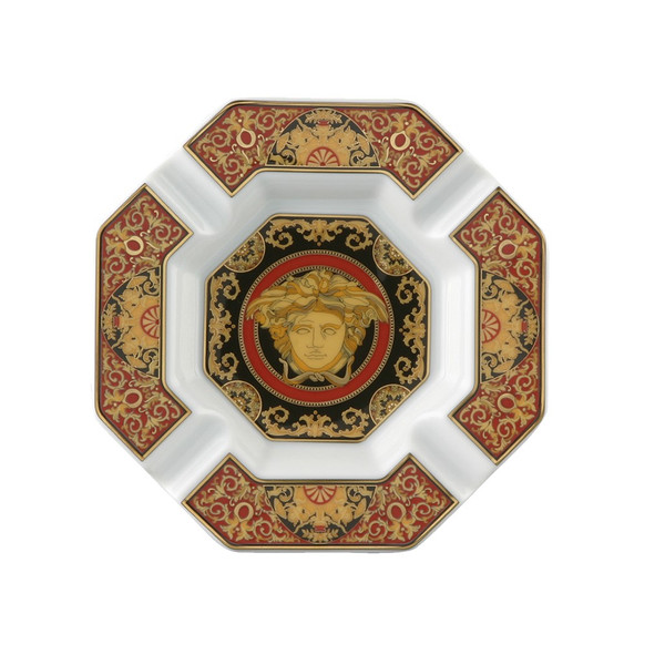 Ashtray, Porcelain, 5 1/2 inch | Versace Medusa Red