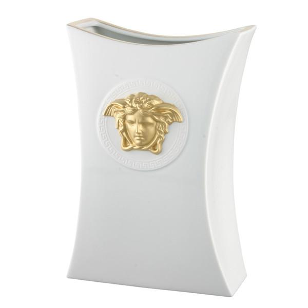 Vase, Porcelain, 11 3/4 inch | Versace Gorgona