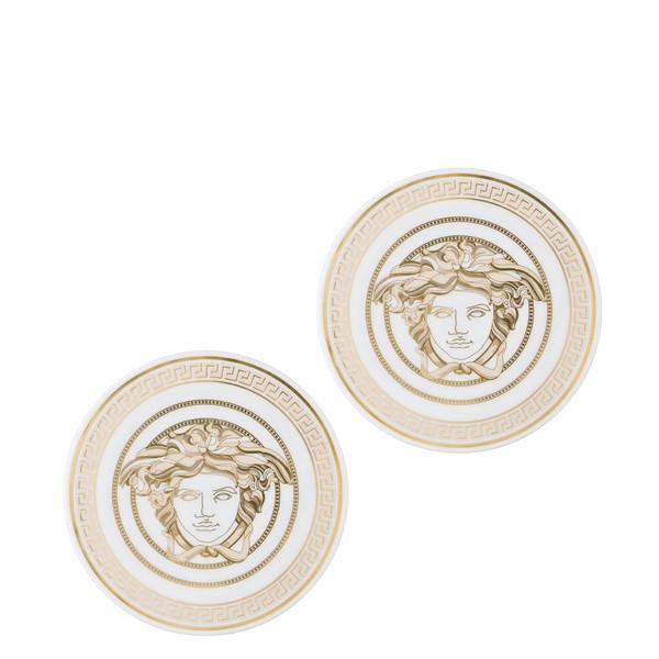 Coasters, Porcelain, Set of two | Versace Medusa Gala