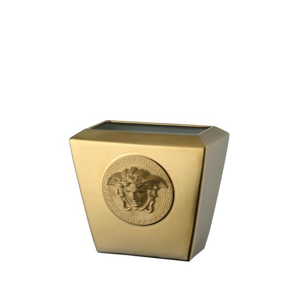 Vase, Porcelain, 7 inch | Versace Medusa Gold