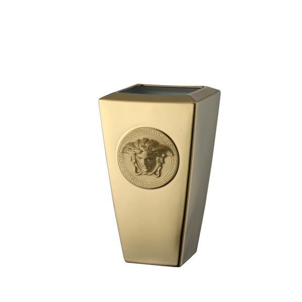 Vase, Porcelain, 9 1/2 inch | Versace Medusa Gold