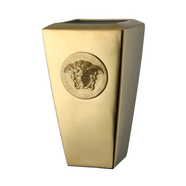 Vase, Porcelain, 12 1/2 inch | Versace Medusa Gold