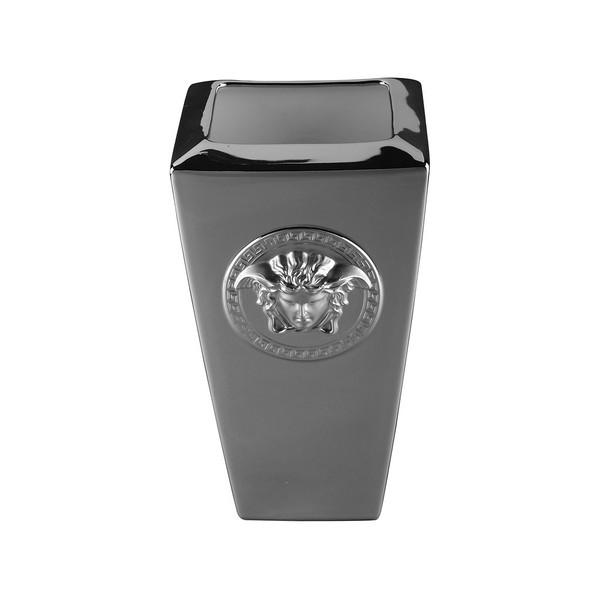 Vase, Porcelain, 9 1/2 inch | Versace Medusa Platin