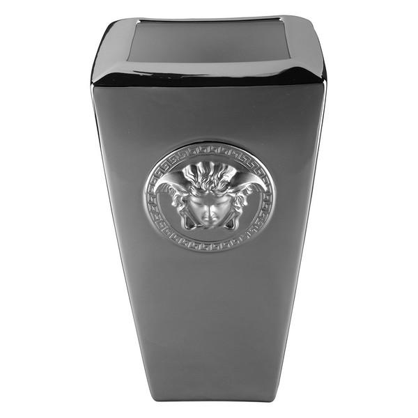 Vase, Porcelain, 12 1/2 inch | Versace Medusa Platin