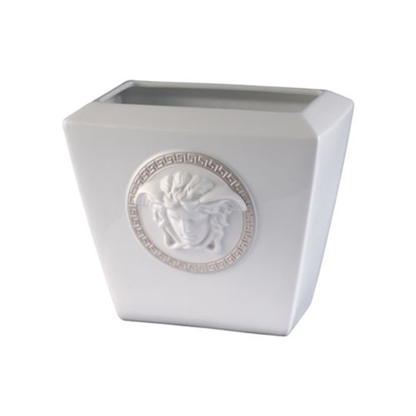 Vase, Porcelain, 7 inch | Versace Medusa Silver