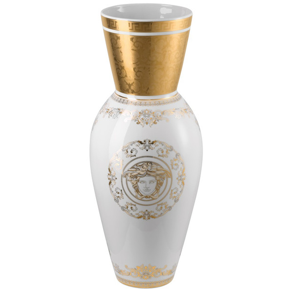 write a review for Vase, Porcelain, 29 1/2 inch | Versace Medusa Gala Gold