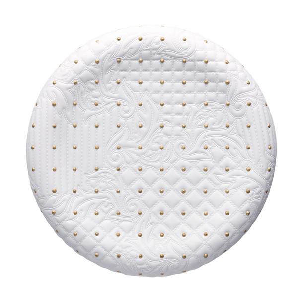 White-gold Dish, 13 1/2 inch | Versace Vanitas White