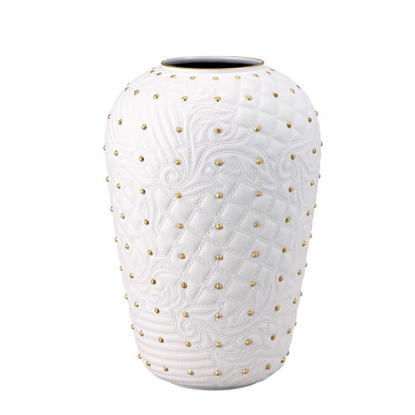 White-gold Vase, 12 1/4 inch | Versace Vanitas White