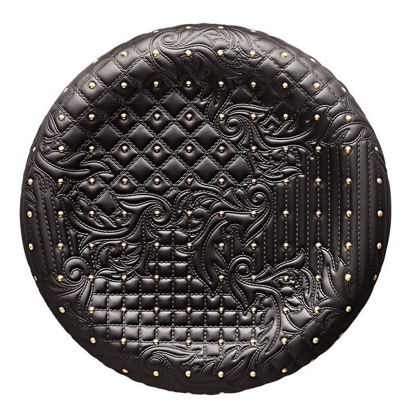 Black-gold Dish, 13 1/2 inch | Versace Vanitas Black