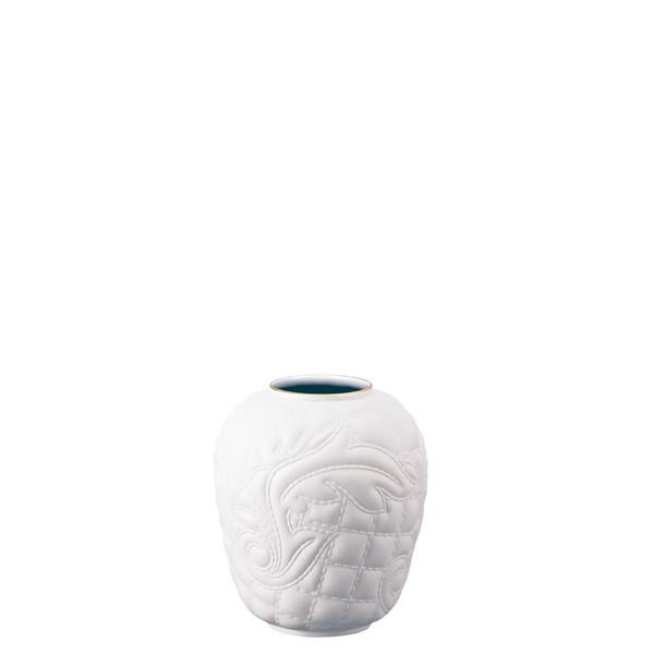 White-goldrim Vase, 4 inch | Versace Vanitas White