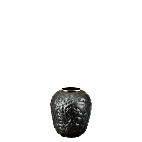 write a review for Black-goldrim Vase, 4 inch | Versace Vanitas Black