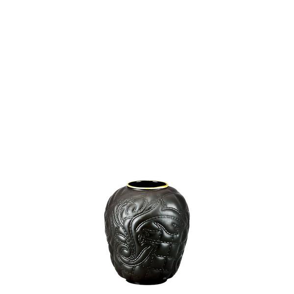 Black-goldrim Vase, 4 inch | Versace Vanitas Black