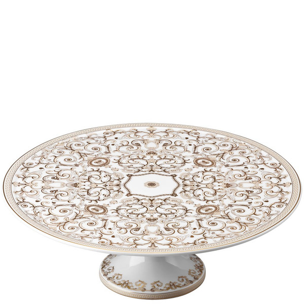 Footed Cake Plate, 13 inch | Versace Medusa Gala