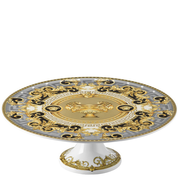 Footed Cake Plate, 13 inch | Versace Prestige Gala