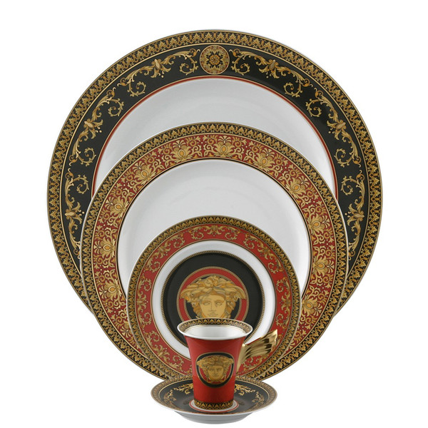 5 Piece Place Setting (5 pps)   Medusa Red