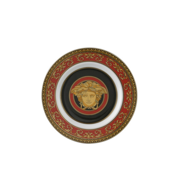 Bread & Butter Plate, 7 inch | Versace Medusa Red