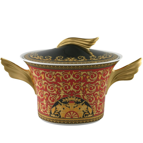 Soup Tureen, 77 ounce | Versace Medusa Red
