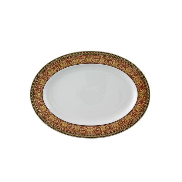 Platter, 13 1/4 inch | Versace Medusa Red