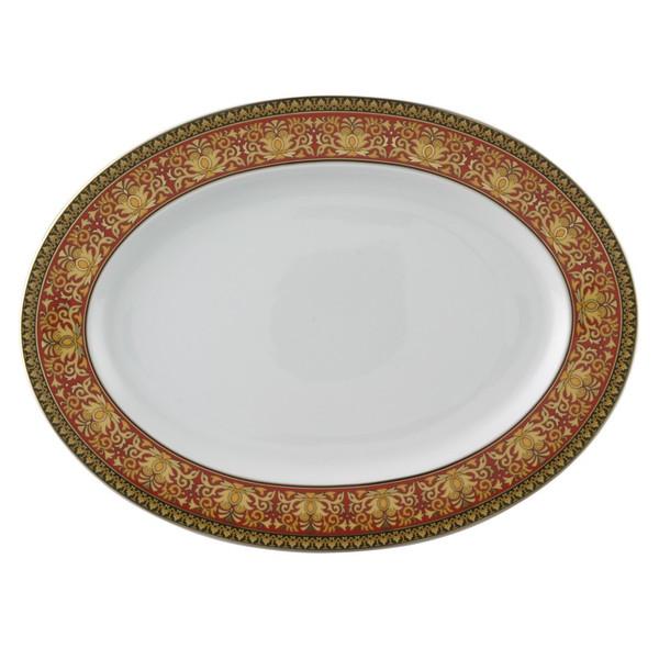 Platter, 15 3/4 inch | Versace Medusa Red