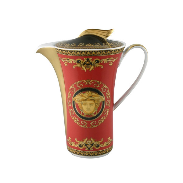 Coffee Pot, 40 ounce | Versace Medusa Red