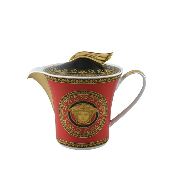 Tea Pot, 43 ounce | Versace Medusa Red