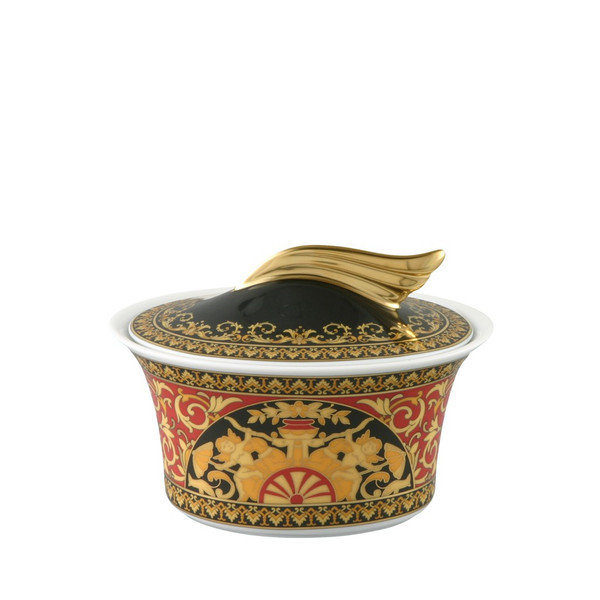 Sugar Bowl, Covered, 7 ounce | Versace Medusa Red