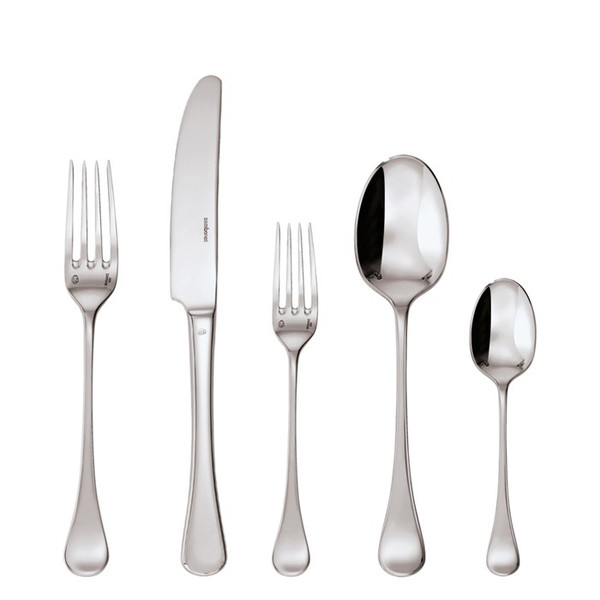 5 Pcs Place Setting (solid handle knife) | Sambonet Queen Anne