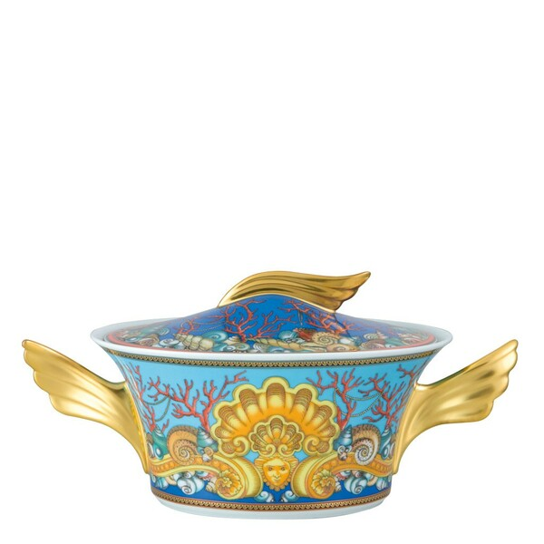 Vegetable Bowl, Covered, 54 ounce | Versace La Mer