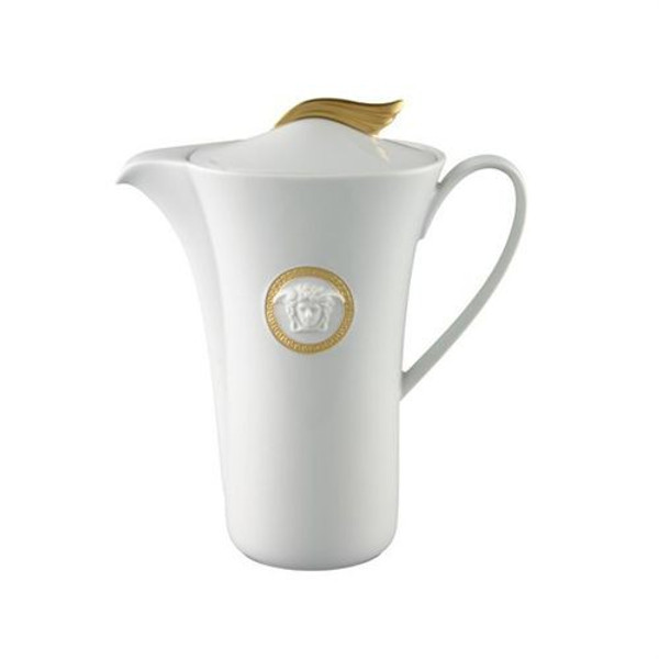 Coffee Pot, 40 ounce | Versace Medusa D-Or