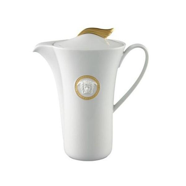 Coffee Pot, 40 ounce | Versace Medusa D-Or