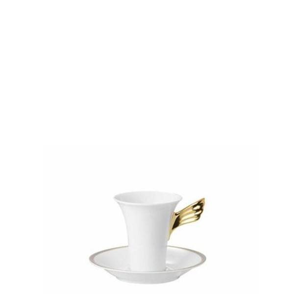 Saucer, High, 6 inch | Versace Medusa D-Or