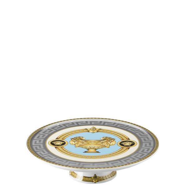 Footed Platter, 8 1/4 inch | Versace Prestige Gala Bleu