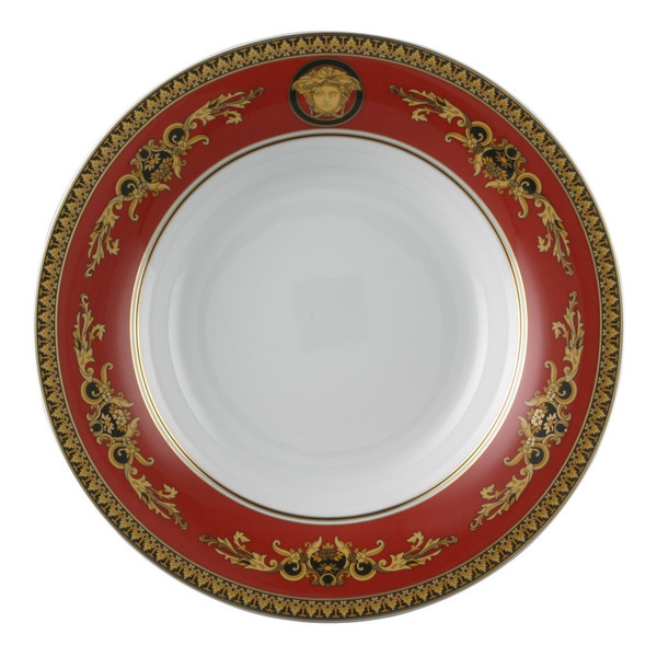 Gourmet Plate, 12 1/4 inch | Versace Medusa Red