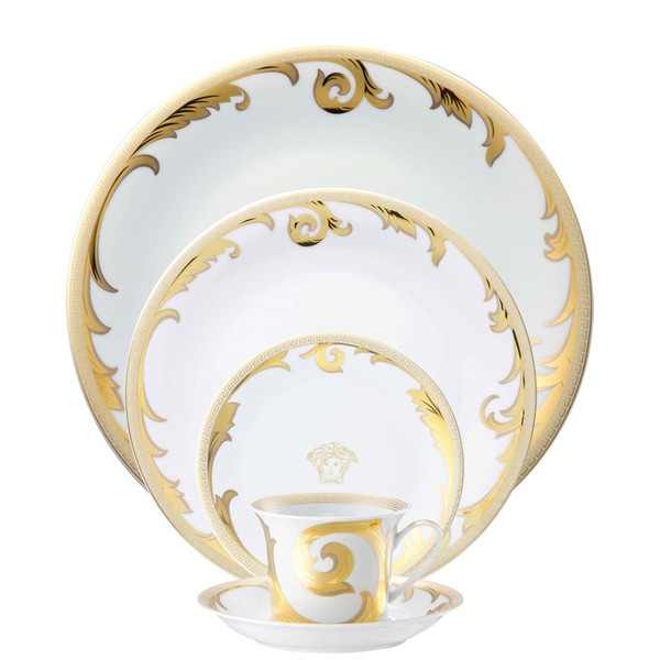5 Piece Place Setting (5 pps) | Arabesque Gold