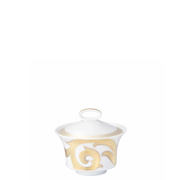 Sugar Bowl, Covered, 7 ounce | Versace Arabesque Gold