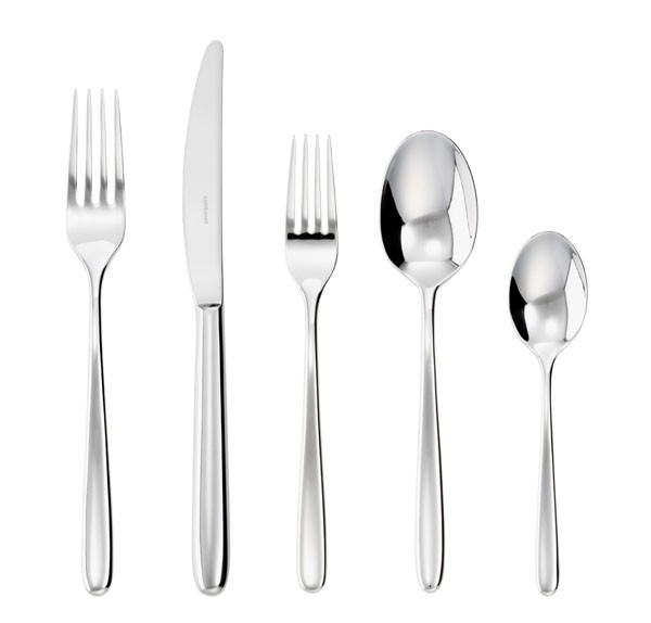 5 Pcs Place Setting (solid handle knife) | Sambonet Hannah