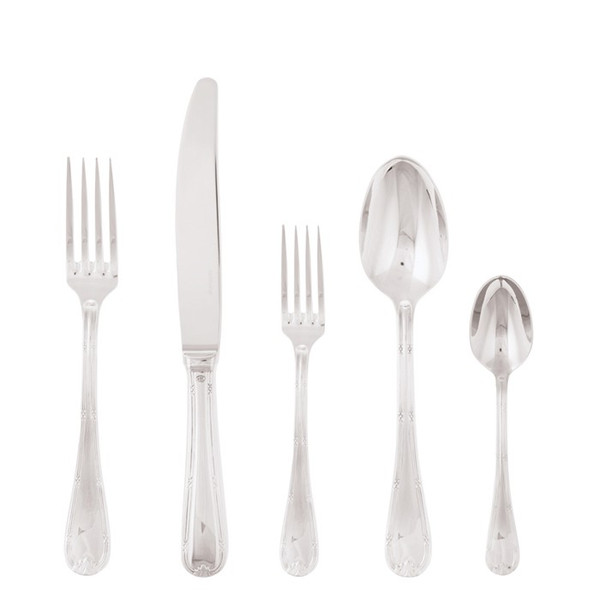 5 Pcs Place Setting (solid handle knife) | Sambonet Ruban Croise
