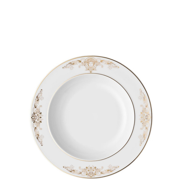 write a review for Rim Soup Plate, 8 1/2 inch | Versace Medusa Gala