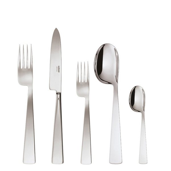 5 Pcs Place Setting (solid handle knife) | Sambonet Conca Gio Ponti