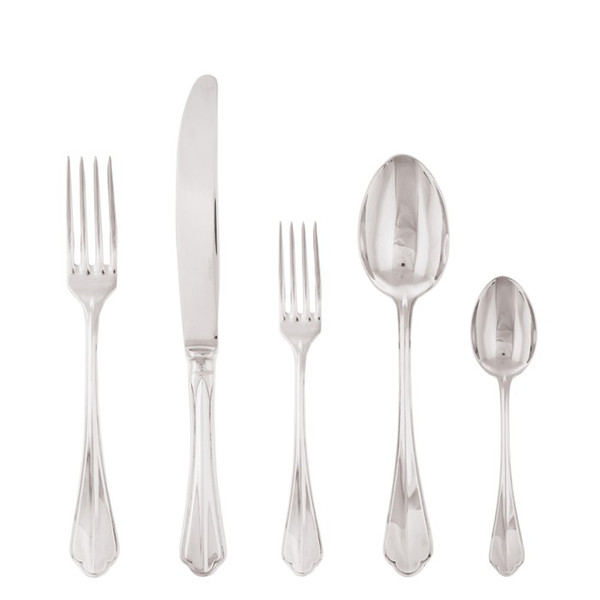 5 Pcs Place Setting (solid handle knife) | Sambonet Rome