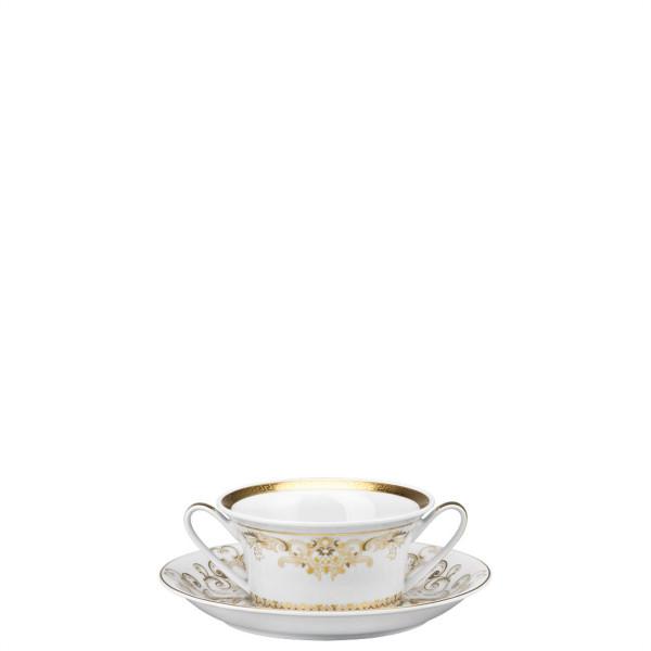 Cream Soup Saucer, 6 3/4 inch | Versace Medusa Gala Gold