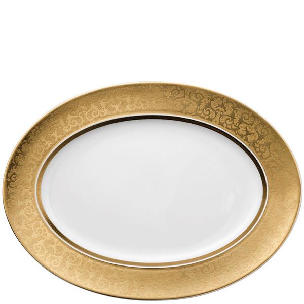 Platter, 15 3/4 inch | Versace Medusa Gala Gold