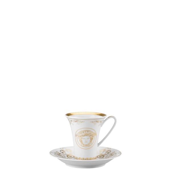 Saucer, High, 6 inch | Versace Medusa Gala Gold