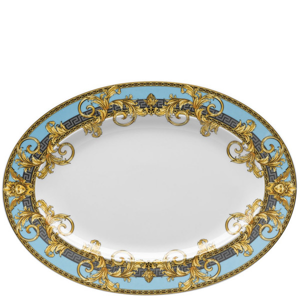 Platter, 13 1/4 inch   Versace Prestige Gala Bleu