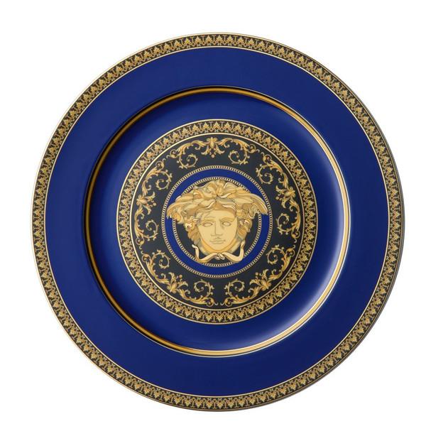 Service Plate, 12 inch | Versace Medusa Blue