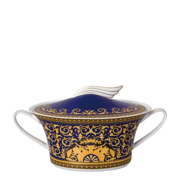 Vegetable Bowl, Covered, 54 ounce | Versace Medusa Blue
