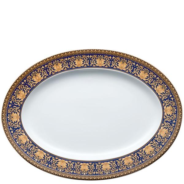 Platter, 13 1/4 inch | Versace Medusa Blue